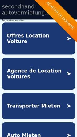 Vorschau der mobilen Webseite www.secondhand-autovermietung.de, Secondhand Autovermietung Hohn