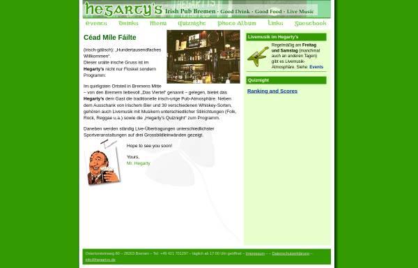 Vorschau von www.hegartys.de, Hegarty's Irish Pub Bremen