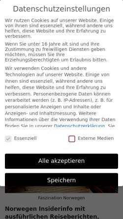 Vorschau der mobilen Webseite skandinavien.eu, Norwegen-Insiderinfo [Horst Gassner]