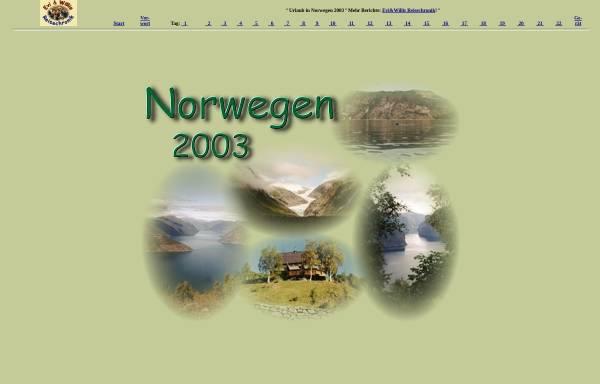 Vorschau von www.etwilli.de, Reisechronik Norwegen 2003 [Evi & Willi Schulze]