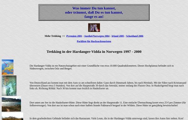 Vorschau von www.horst-rudolph.de, Trekking durch Norwegen [Rudolph, Horst]
