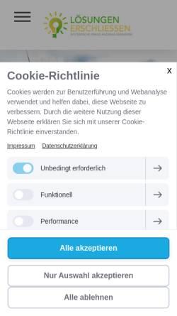 Vorschau der mobilen Webseite www.loesungen-erschliessen.de, Andreas Kemmerer
