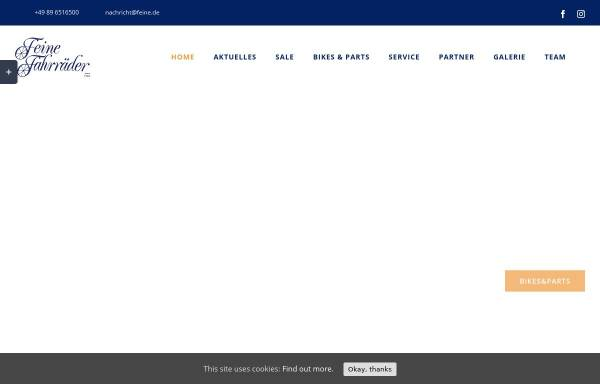 Vorschau von www.feine.de, Feine Fahrräder GmbH