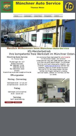 Vorschau der mobilen Webseite www.muenchner-auto-service.de, MAS Münchner Auto Service