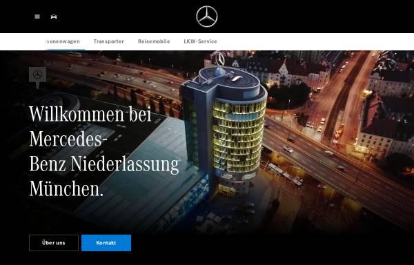 Vorschau von www.muenchen.mercedes-benz.de, Mercedes-Benz Niederlassung München