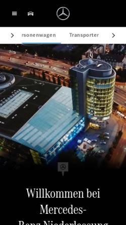 Vorschau der mobilen Webseite www.muenchen.mercedes-benz.de, Mercedes-Benz Niederlassung München
