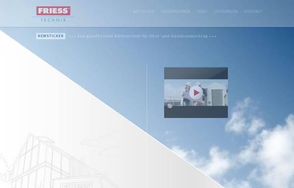 Vorschau von www.friess-klima.de, Friess GmbH