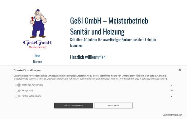 Vorschau von www.gessl-gmbh.de, Gessl GmbH