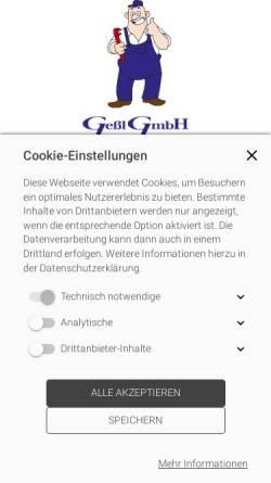 Vorschau der mobilen Webseite www.gessl-gmbh.de, Gessl GmbH