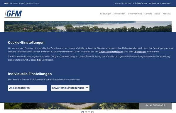 Vorschau von www.gfm-ingenieure.de, GFM Beratende Ingenieure GmbH