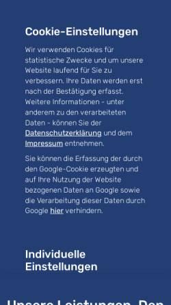 Vorschau der mobilen Webseite www.gfm-ingenieure.de, GFM Beratende Ingenieure GmbH