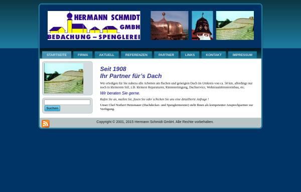 Vorschau von www.hermann-schmidt-dach.de, Hermann Schmidt GmbH
