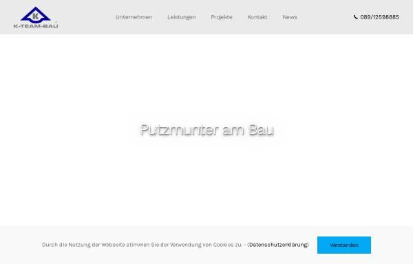 Vorschau von www.k-team-bau.de, K-Team-Bau GmbH