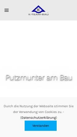 Vorschau der mobilen Webseite www.k-team-bau.de, K-Team-Bau GmbH