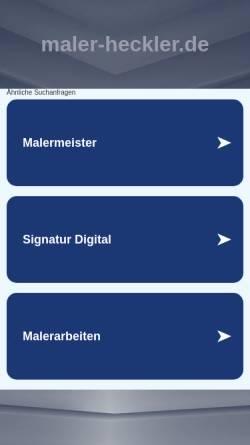 Vorschau der mobilen Webseite www.maler-heckler.de, Malerinnungsfachbetrieb R. Heckler & Söhne