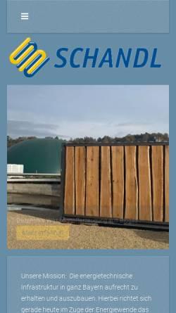 Vorschau der mobilen Webseite www.schandl.de, Schandl GmbH