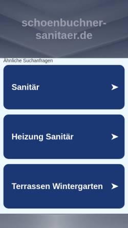 Vorschau der mobilen Webseite www.schoenbuchner-sanitaer.de, Schönbuchner Sanitär