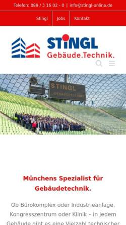 Vorschau der mobilen Webseite www.stingl-online.de, Stingl GmbH