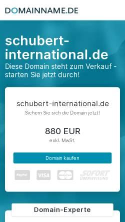 Vorschau der mobilen Webseite www.schubert-international.de, Unternehmensgruppe Lösch-Schubert