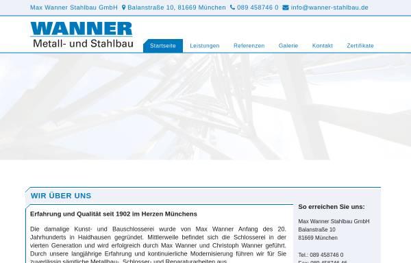 Vorschau von www.wanner-stahlbau.de, Wanner Stahlbau GmbH