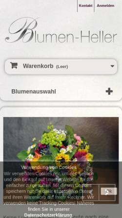 Vorschau der mobilen Webseite www.blumen-heller.de, Blumen Heller