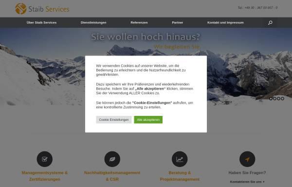 Vorschau von www.staibservices.de, StaibServices - Dr. Barthold Staib