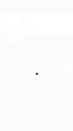 Vorschau der mobilen Webseite www.witzenhausen-institut.de, Witzenhausen-Institut für Abfall, Umwelt und Energie GmbH
