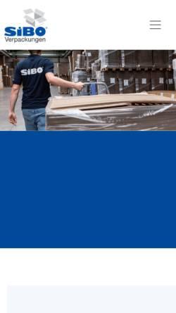 Vorschau der mobilen Webseite www.sibo.com, SiBO Verpackungen Bernd Hesse GmbH & Co. KG