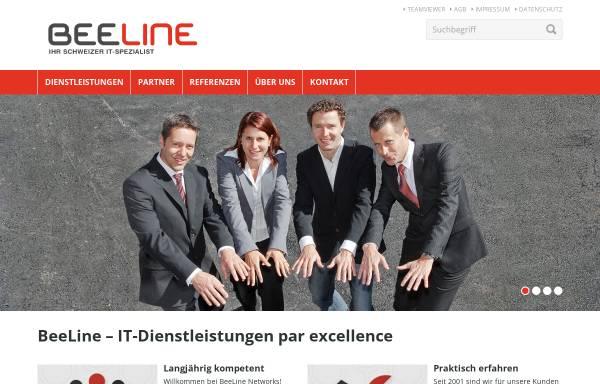 Vorschau von www.beeline.ch, BeeLine Networks GmbH