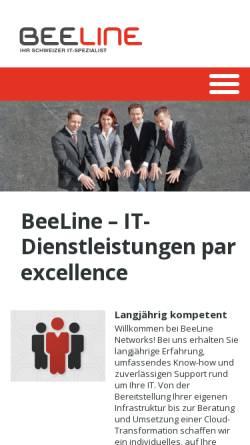 Vorschau der mobilen Webseite www.beeline.ch, BeeLine Networks GmbH