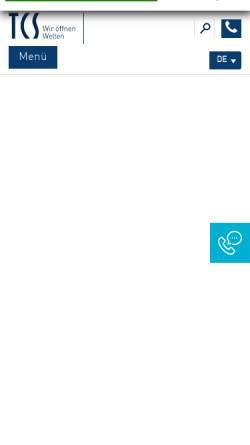 Vorschau der mobilen Webseite www.tcs-germany.de, TCS TürControlSysteme GmbH Genthin