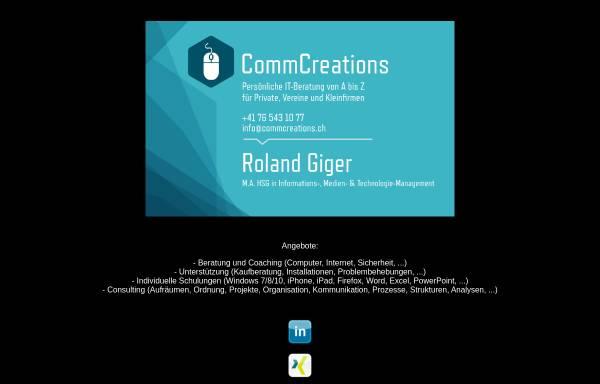 Vorschau von www.commcreations.ch, CommCreations