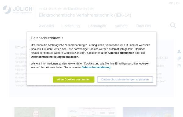 Vorschau von www.fuelcells.de, Brennstoffzellen