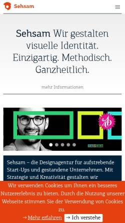 Vorschau der mobilen Webseite www.sehsam.de, Sehsam