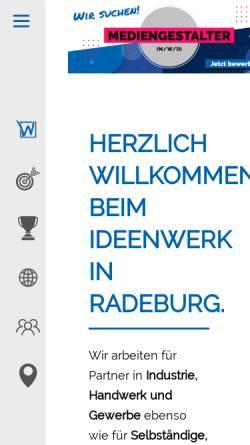 Vorschau der mobilen Webseite www.kroemke.com, Werbung und Kommunikationsdesign Kroemke e.K.