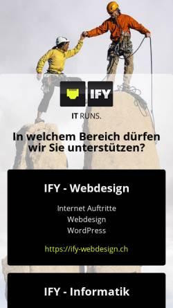 Vorschau der mobilen Webseite www.ify.ch, Internet Factory, Sarnen
