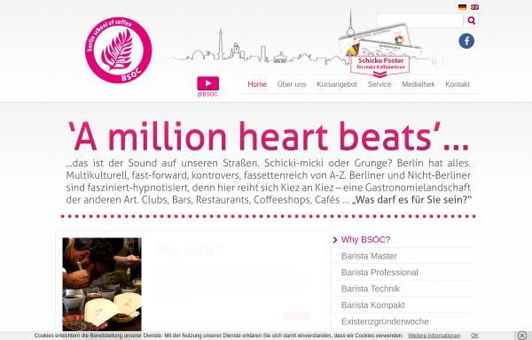 Vorschau von www.berlinschoolofcoffee.de, Berlin School of Coffee GmbH & Co. OHG