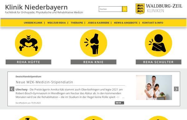 Vorschau von www.klinik-niederbayern.de, Klinik Niederbayern