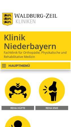 Vorschau der mobilen Webseite www.klinik-niederbayern.de, Klinik Niederbayern