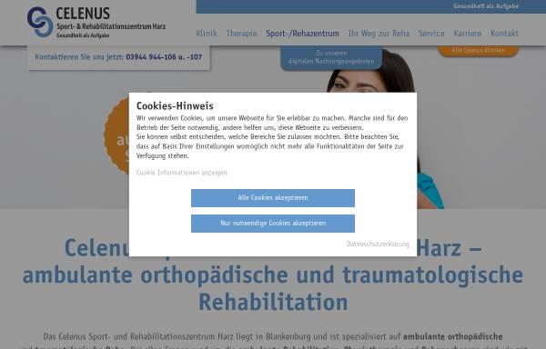 Sport- und Rehabilitationszentrum Harz GmbH Blankenburg ...
