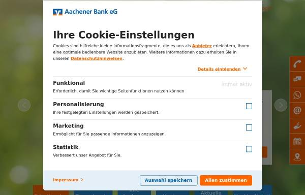 Aachener Bank eG: Finanzgewerbe, Wirtschaft aachener-bank.de on