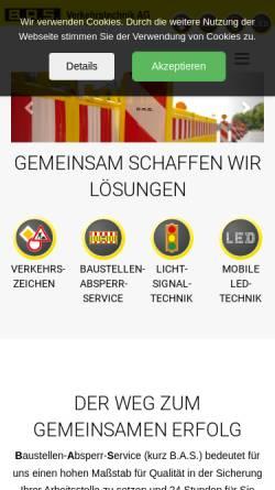 Vorschau der mobilen Webseite www.bas-verkehr.de, B.A.S. Verkehrstechnik AG