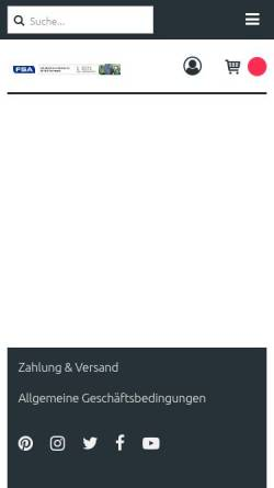 Vorschau der mobilen Webseite www.fsamasch.com, FSA Maschinen & Handels AG