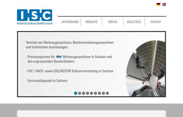 Vorschau von www.iscmaschinen.de, ISC Werkzeugmaschinen GmbH
