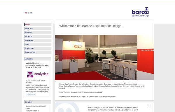 Vorschau von www.barozzi.de, Barozzi Messebau GmbH