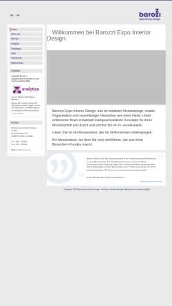 Vorschau der mobilen Webseite www.barozzi.de, Barozzi Messebau GmbH