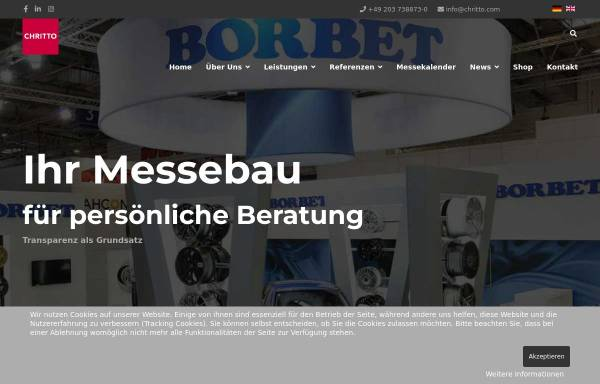 Vorschau von www.messebau.com, Messebau CHRITTO international AG