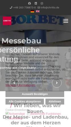 Vorschau der mobilen Webseite www.messebau.com, Messebau CHRITTO international AG