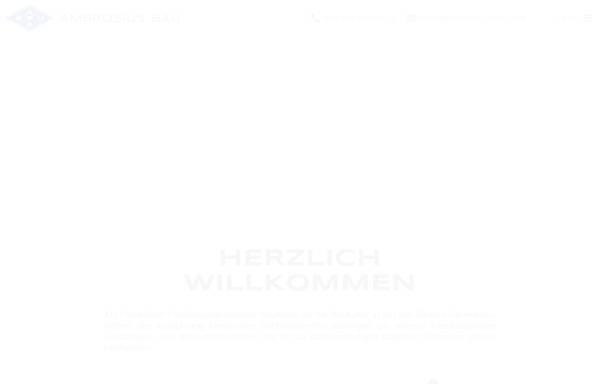 Vorschau von www.ambrosius.de, Ernst F. Ambrosius & Sohn GmbH