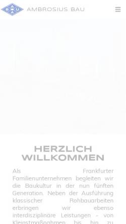 Vorschau der mobilen Webseite www.ambrosius.de, Ernst F. Ambrosius & Sohn GmbH